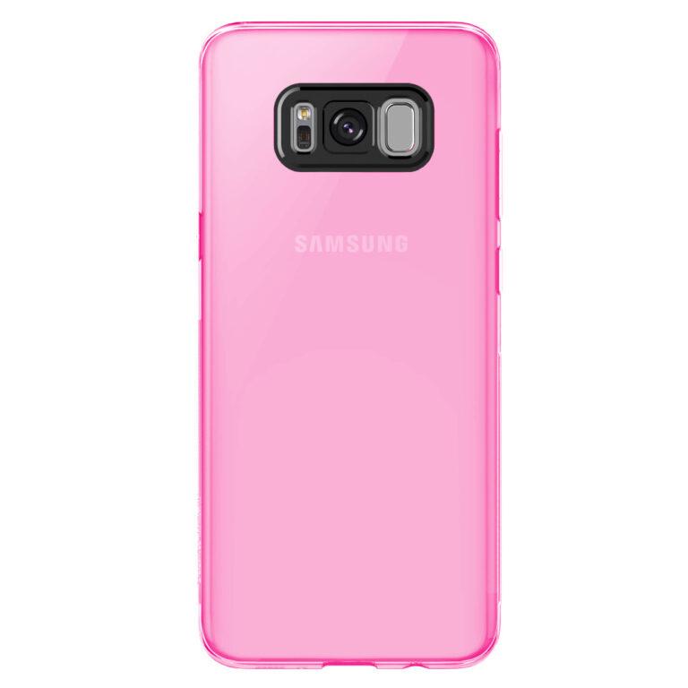 Pink szilikon Samsung Galaxy S8 hátlap, rózsaszín