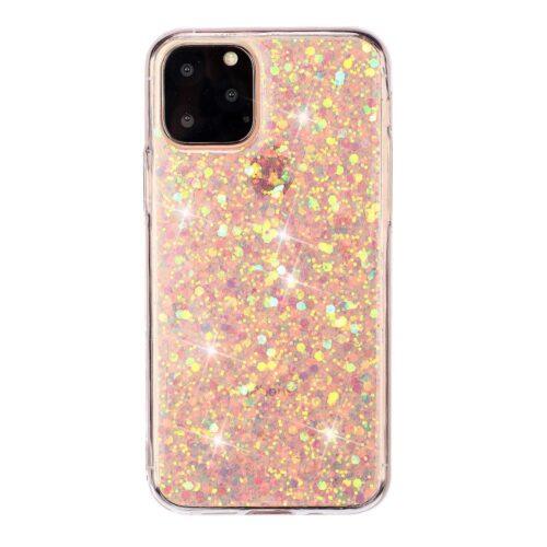 iPhone 11 Pro Max, Sparkle Pink tpu rózsaszín csillogós tok
