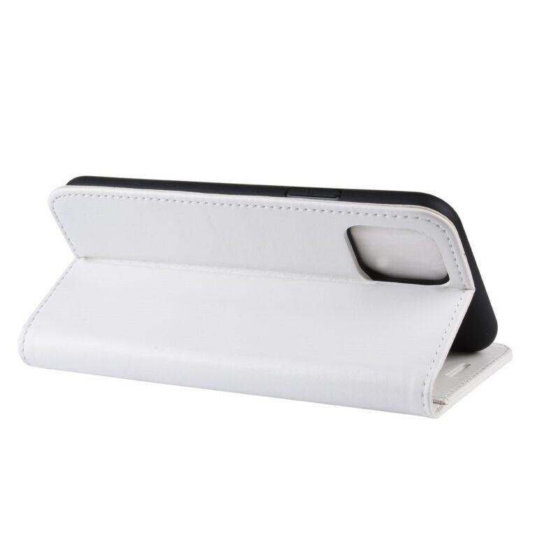 Leather Book iPhone 11 Pro valódi bőrtok, fehér